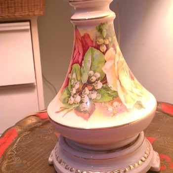 Paris Porcelain Oil Lamp converted to Electric - Lamps