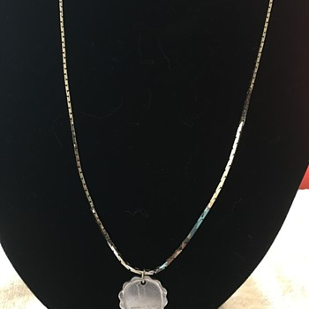 14 K necklace?