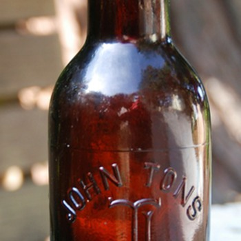 John Tons - Stockton, CA - A very old beer bottle i found recently - Breweriana