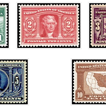 Lousiana Purchase Issue stamps Mint