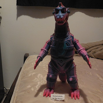 Ultra Rare custom painted original Mecha Godzilla Figure by Tim Biskup