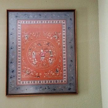 FRAMED ORIENTAL SILK ART - Asian