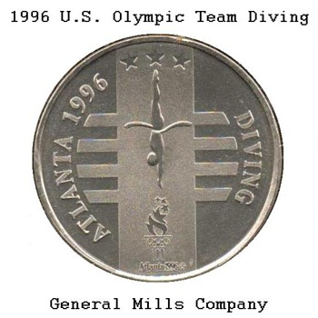 "1996 - Atlanta Olympics ""Diving"" Medal - Medals Pins and Badges"