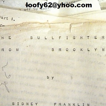 The Bullfighter From Brooklyn, By Sindey Franklin - Books