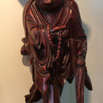 Unknown origin wood carved figurines - Asian