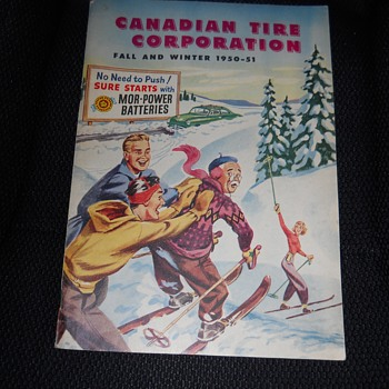 "2 of 3-Canadian Tire Corporation '1950-1951""Fall&Winter Issue"