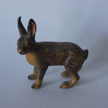Cold Painted Bronze Hare