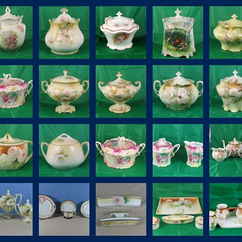 This is a colection of Cracker and Bisquet jars  - China and Dinnerware
