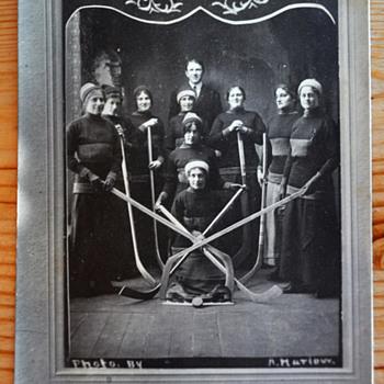 Lady Rovers 1913 Women's Hockey Champions postcard