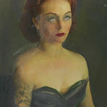 My Favorite Haunting Portrait By Constantine Cherkas (1919-2011) - Visual Art