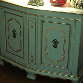 John Widdicomb Robin Egg Blue Hand Painted Furniture - Furniture