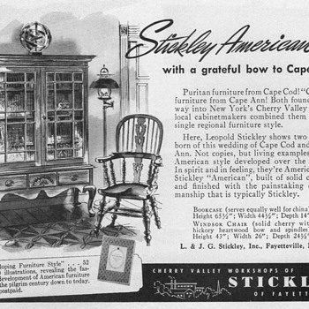 1951 - Stickley Furniture Advertisement - Advertising
