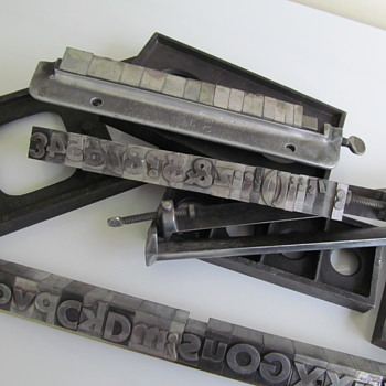 PRINTING PRESS LETTERS - Office