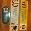 3 Vintage soda thermometer advertisements!