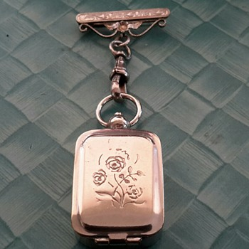 Edwardian Cased Personal Monogram Ink Stamp Fob