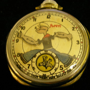 1935 Popeye Pocket Watch - Pocket Watches