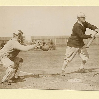 Dead Ball Era c.1910-1914. Jim Thorpe Batting. Matty, Tris Speaker, & Ty Cobb. TYPE I Photographs from my collection. - Baseball