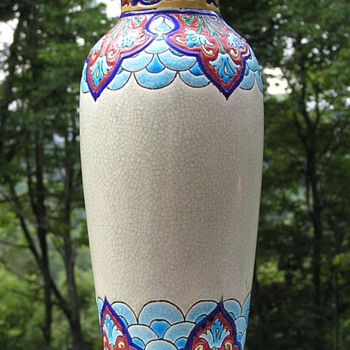 Japanese Inspired Longwy Vase - Art Deco