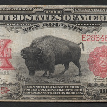 $10 Bison Note / Columbia - US Paper Money