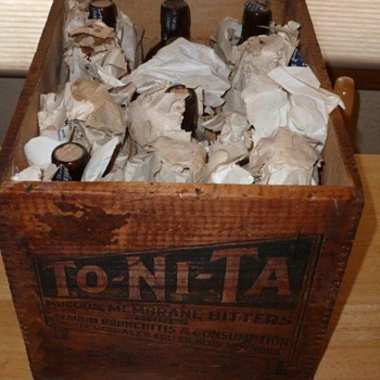 To-Ni-Ta Bitters - Full original case of 12 bottle still full and unopened! - Bottles