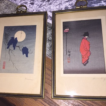 Antique Japanese Prints/woodcuts??