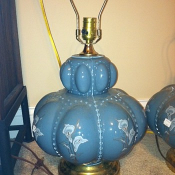 Fenton Rib Melon Lamp