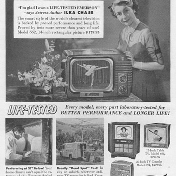 1951 - Emerson Radio/TV Advertisement - Advertising