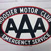 AAA Hoosier Motor Club Porcelain Sign