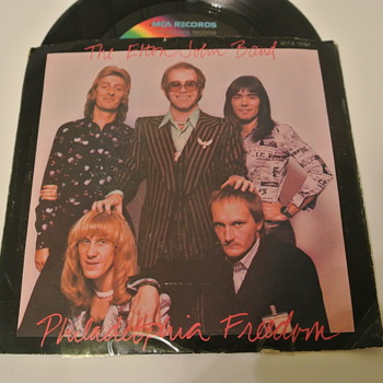 Elton John Band 45 Record  - Philadelphia Freedom - Records