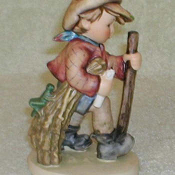 "Hummel Figurine ""On Secret Path"" - Art Pottery"