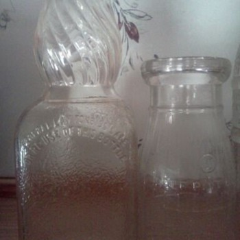 Sun Crest,NEHI, Milk bottle and Old Liquor bottle not sure of what kind