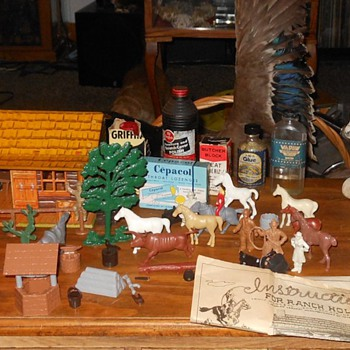 Marx Bar m Ranch Playset