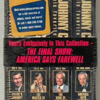 1994 - Johnny Carson VHS Tapes Set - Electronics