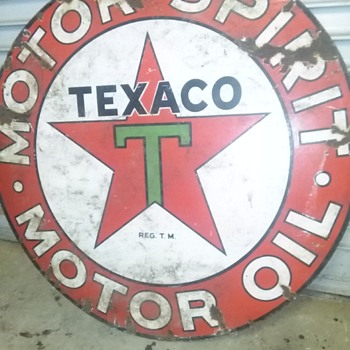 Cool vintage Texaco sign
