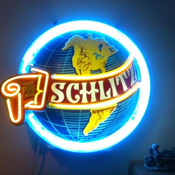 My vintage 1960s Schlitz World Neon Sign