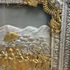Unknown exactly what they call this style,   Old 2-d Female Buddha box Framed Picture I think, Gold and silver colors