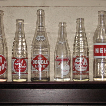 Red & White Label Bottles - Bottles