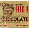 Ace High Milk Chocolate Candy Wrapper Boston Mass.