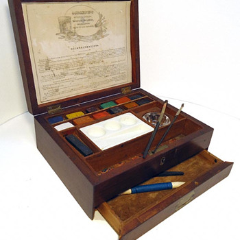 Paint Box of Artist's watercolors made by G.C. Osborne