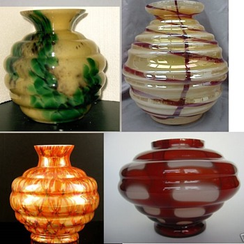 Kralik Lobed shape study - Art Glass