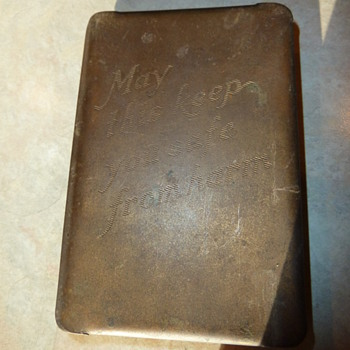 WW2 Bible with Heart shield & Ticket to heaven