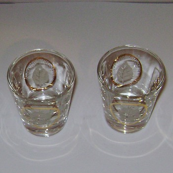 Vintage shot Glasses - Glassware