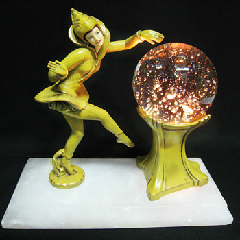 Another Pixie Lamp with Bubble Glass - DANSEUSE DES INDES by Ignacio Gallo - Art Deco