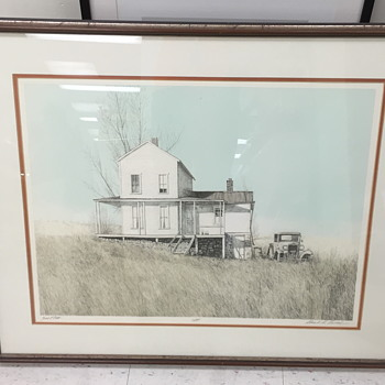 Limited edition print of a house.