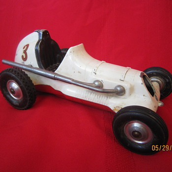 Old Roy Cox Thimble Drome Champion Santa Ana California Metal Tether Race Car