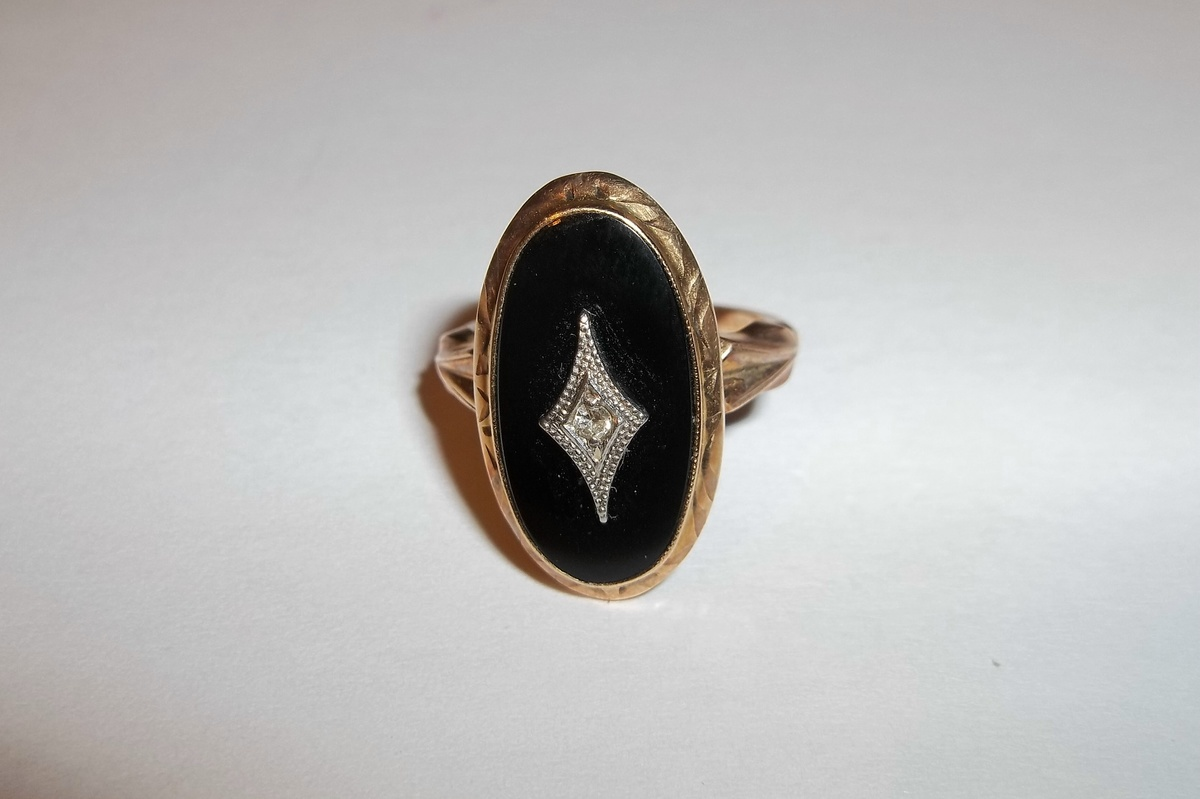 10k black onyx ring hallmarked boa collectors weekly