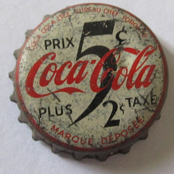 UNUSUAL COCA COLA BOTTLE CAP, CANADA - Coca-Cola