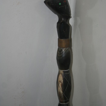 egypitan carved bone walking sticks