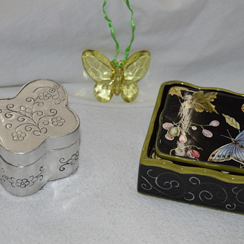 Tracy Porter Black Butterfly Coaster Set