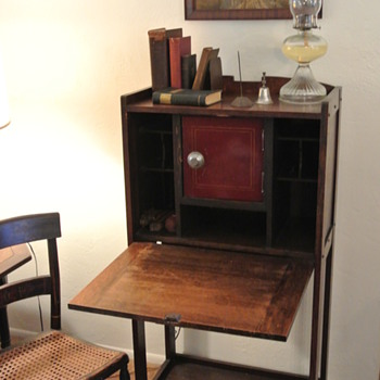Mission style desk? Why the safe?